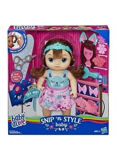 Hasbro Baby Alive Bebeğimle Saç Tasarımı Kumral E5242 Renkli